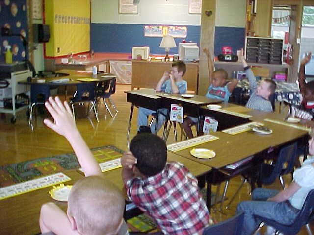 Kids at Desks